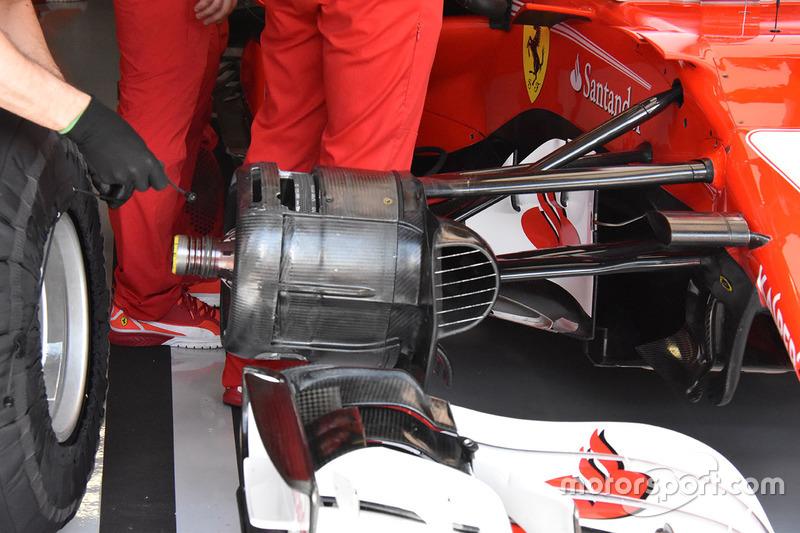 Деталі передніх гальм Ferrari SF70H