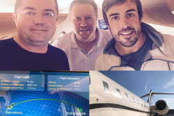 Eric Boullier, Zak Brown e Fernando Alonso in volo verso Indianapolis