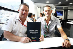 Motorsport Network Chairman Zak Brown and Editor-in-chief Charles Bradley with the results from the 2017 Formula 1 fan survey