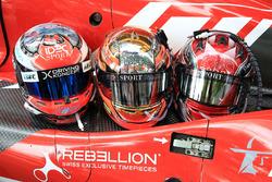 Cascos de #17 IDEC Sport Racing Ligier JS P217 Gibson: Patrice Lafargue, Paul Lafargue, David Zollinger