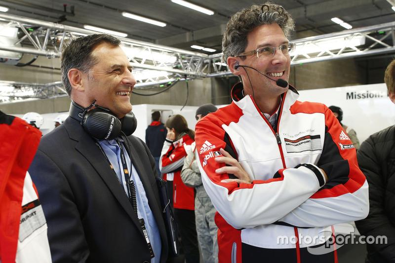 Michael Steiner, Dr. Frank-Steffen Walliser, Porsche Team
