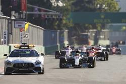 Lewis Hamilton, Mercedes AMG F1 W08 behind the safety car