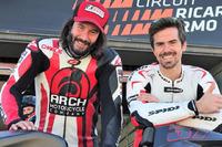 Keanu Reeves y Nico Terol en el Circuito Ricardo Tormo de Valencia
