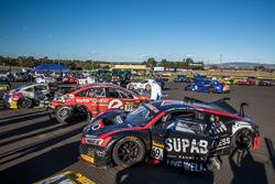 #69 Audi Sport Customer Racing Audi R8 LMS: James Koundoris, Theo Koundouris, Ash Walsh, Duvashen Padayachee after the crash
