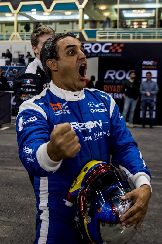 Juan Pablo Montoya del equipo Latinoamérica