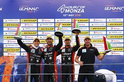 Podium LMP2 : les vainqueurs #26 G-Drive Racing Oreca 07 - Gibson: Roman Rusinov, Andrea Pizzitola, Jean Eric Vergne