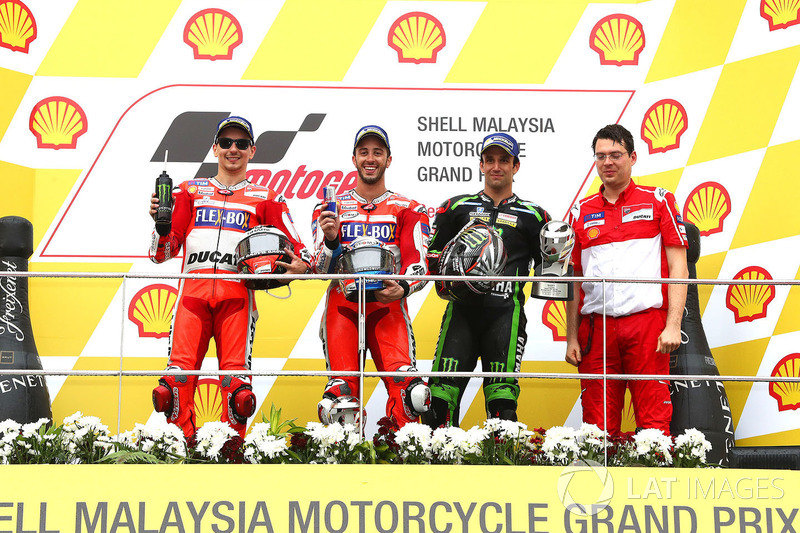 Podio: 2º GP de Malasia 2017