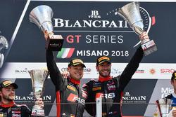 Podium: Race winners #1 Belgian Audi Club Team WRT Audi R8 LMS: Alex Riberas, Christopher Mies