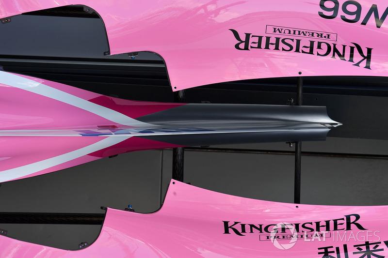 Force India VJM11 bodywork detail