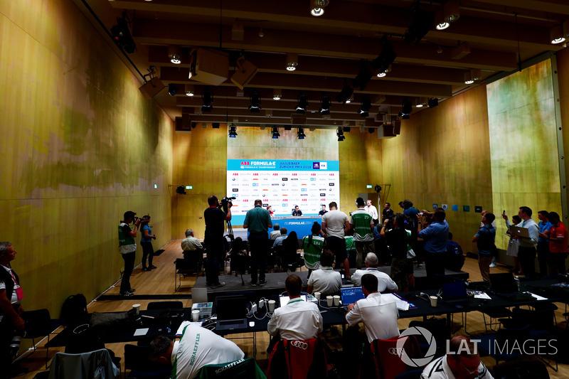 Press conference with Edoardo Mortara, Venturi Formula E Team, Sébastien Buemi, Renault e.Dams, Nick Heidfeld, Mahindra Racing