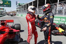 Обладатель поула Себастьян Феттель, Ferrari, третье место – Макс Ферстаппен, Red Bull Racing