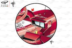 Ferrari SF71H, specchietti per il GP di Monaco