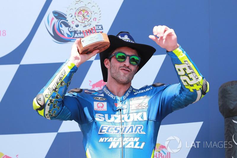 Podium : Andrea Iannone, Team Suzuki MotoGP