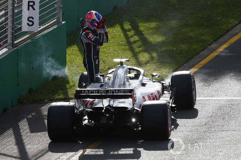 Abandon : Romain Grosjean (Haas)
