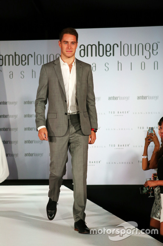 Stoffel Vandoorne, McLaren Test and Reserve Driver at the Amber Lounge Fashion Show.