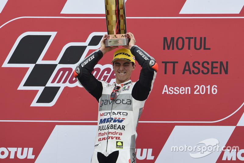 Podium: pemenang Francesco Bagnaia, Aspar Team Mahindra
