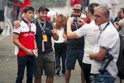 Charles Leclerc, Sauber en fans