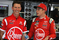 Crew chief Jason Ratcliff and  Christopher Bell, Joe Gibbs Racing, Toyota Camry Rheem