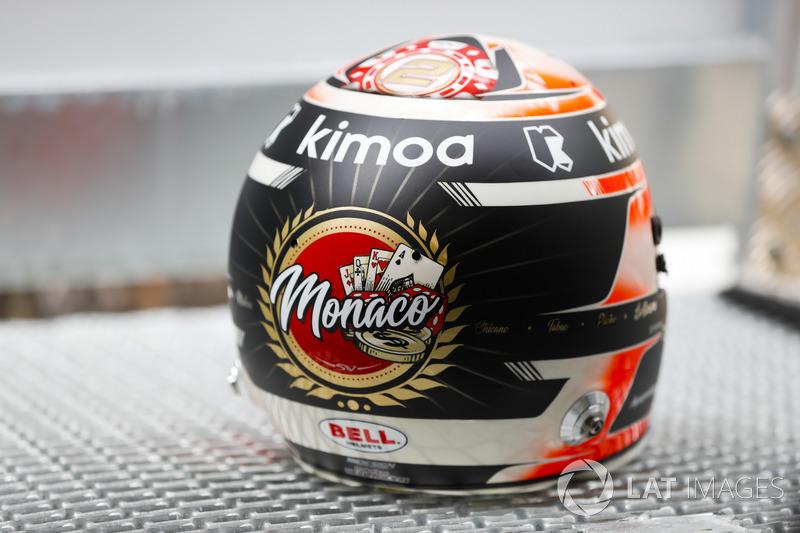 Detail helm Stoffel Vandoorne, McLaren, helmet detail