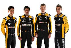 Carlos Sainz Jr., Nico Hulkenberg, Renault Sport F1 Team, Jack Aitken, Renault Sport F1 Team RS18 Test and Reserve Driver, Artem Markelov, Renault Sport F1 Team Test and Development Driver