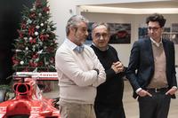 Arrivabene, Marchionne e Binotto al pranzo di Natale Ferrari