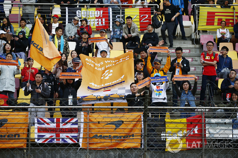 Support for McLaren in a grandstand