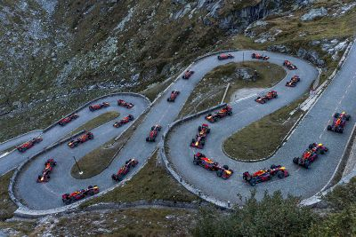 Демо-заезды Red Bull Gotthard Pass