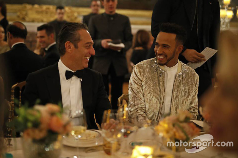 Lewis Hamilton with Carlos Slim Domit
