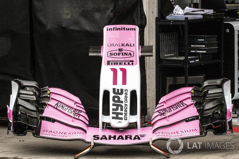 Носовой обтекатель и переднее антикрыло Force India F1 VJM11