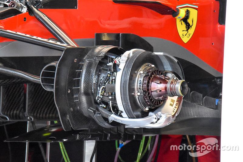 Ferrari SF71H front brake and wheel hub