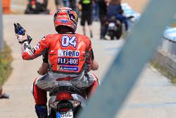 Andrea Dovizioso, Ducati Team, après l'accident