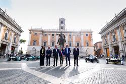 Dimostrazione delle Formula E a Roma
