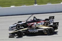 James Hinchcliffe, Schmidt Peterson Motorsports Honda, Graham Rahal, Rahal Letterman Lanigan Racing Honda