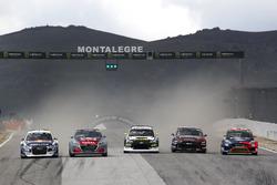 Mattias Ekström, EKS Audi Sport, Timmy Hansen, Team Peugeot Total, Timur Timerzyanov, GRX Taneco, Kevin Eriksson, Olsbergs MSE