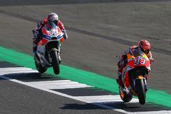 Marc Marquez, Repsol Honda Team, Dovizioso British MotoGP 2017