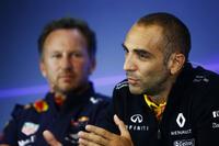 Christian Horner, Team Principal, Red Bull Racing, Cyril Abiteboul, directeur général Renault Sport F1 Team, en conférence de presse