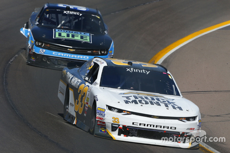 Brandon Jones, Richard Childress Racing, Chevrolet; Joey Gase, Jimmy Means Racing, Chevrolet