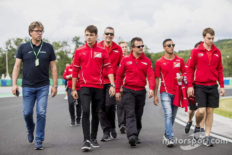 Charles Leclerc, PREMA Powerteam y Antonio Fuoco, PREMA Powerteam