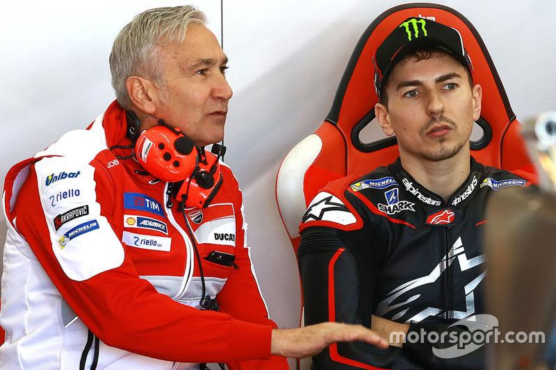 Давіде Тардоцці, керівник команди, Хорхе Лоренсо, Ducati Team