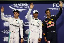 Polesitter: Lewis Hamilton, Mercedes AMG F1, tweede Nico Rosberg, Mercedes AMG F1, derde Daniel Ricciardo, Red Bull Racing