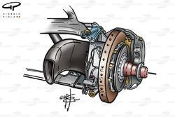 McLaren MP4-15 front brake duct (Qualifying)