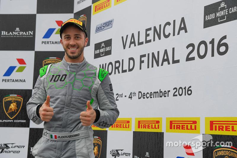 Podio: Andrea Dovizioso, Lamborghini Squadra Corse