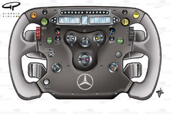 McLaren MP4-24 steering wheel