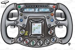 Force India VJM02 2009 steering wheel