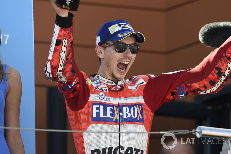 Podio: tercero Jorge Lorenzo, Ducati Team
