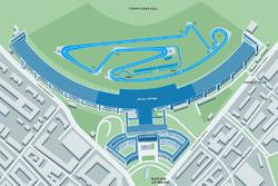 Streckenlayout der Formel E am Flughafen Tempelhof in Berlin 2017