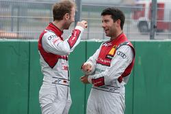 René Rast, Audi Sport Team Rosberg, Audi RS 5 DTM; Mike Rockenfeller, Audi Sport Team Phoenix, Audi RS 5 DTM