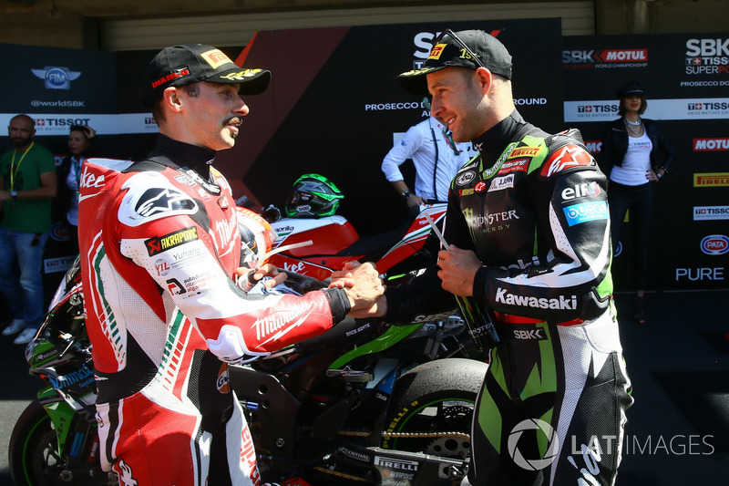 Eugene Laverty, Milwaukee Aprilia, Jonathan Rea, Kawasaki Racing