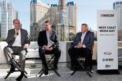 NASCAR track presidents Bryan Sperber (Phoenix Raceway), Dave Allen (Auto Club Speedway), and Chris