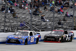 Erik Jones, Joe Gibbs Racing Toyota and Justin Allgaier, JR Motorsports Chevrolet